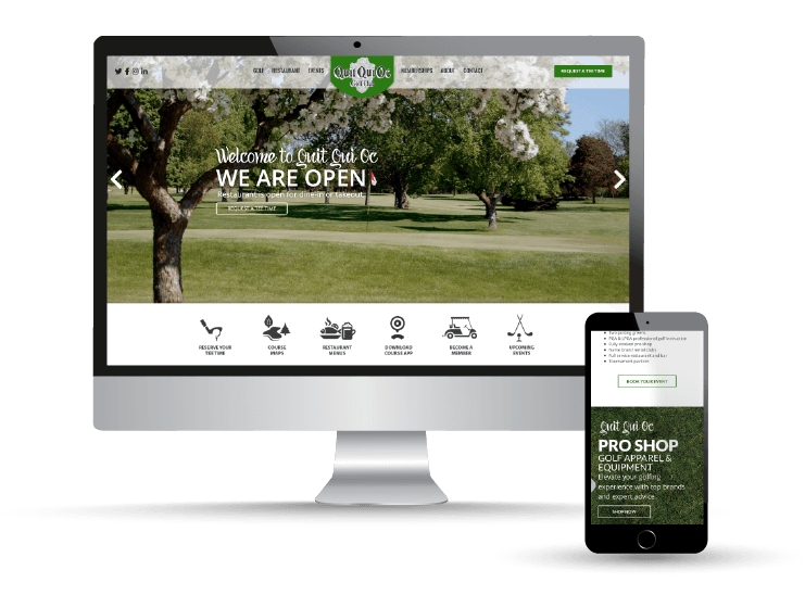 Quit Qui Oc Golf Club & Restaurant website by Sparkworks Marketing & Web Design Chilton